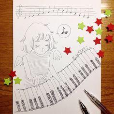 piano | #mekaworks #drawing #nodamecantabile