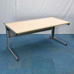 Carleton Maple 1600 Straight Desk Used Straight Office Desks