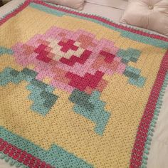 graphic #crochet squares blanket by stripeylemon