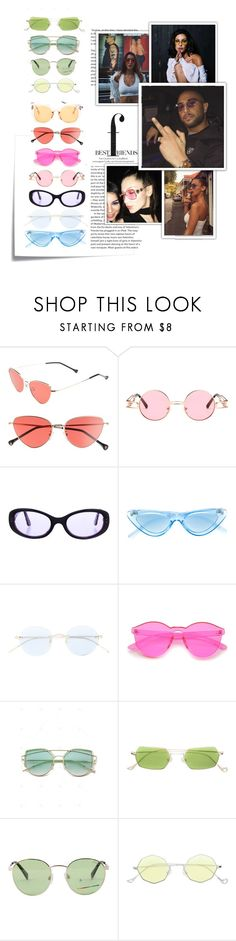 """mybesties♡♡♡"" by scheherazadee ❤ liked on Polyvore featuring Post-It, Chanel, Le Specs, Oliver Peoples, Eyepetizer and Polaroid"