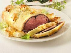 filetto-in-crosta-alla-senape Fett, Baked Potato, Carne, Potatoes, Baking, Ethnic Recipes, Rabbit, Chicken, Bunny