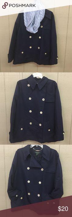 Ralph Lauren navy xl jacket Ralph Lauren navy xl jacket Lauren Ralph Lauren Jackets & Coats Trench Coats
