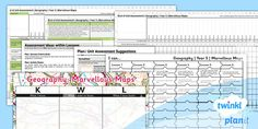 * NEW * PlanIt - Geography Year 5 - Marvellous Maps Unit Assessment Pack