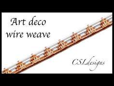 Art Deco wire weave ⎮ Wire weaving series - YouTube