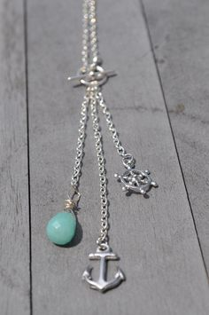 Silver-Plated Nautical Necklace on saveitbuyit.com