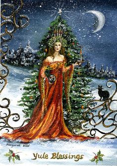 yule | yule blessings watercolour another commission for a yule card from