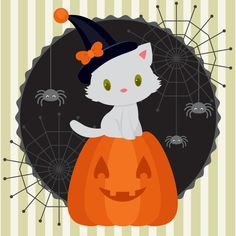 How to Create a Halloween Illustration With a White Kitten in Adobe Illustrator by Nataliya Dolotko
