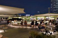 ターミナル駅(池袋駅)に直結する西武池袋本店の屋上の改修計画。 印象派の画家「クロード・モネ」の風景画からインスピレーションを得て「水と緑で四季を感じる庭園」をテーマとした。 屋上全体を水面に見立てて青色のタイルを敷き詰め、水面に浮かぶ蓮の葉をイメージした円形のデッキ、 デッキの上にはパラソルや円形の家具が置かれ屋上空間に居場所をつくりだした。円形デッキは足元の間接照明によって浮かび上がり、夕暮れから夜にかけて色を変化させることで、パラソルの照明と共に夜間の演出を担う。また屋上全体を緑化された壁面が覆い、空だけを切りとり象徴的に見せている。 様々なフードとイベント、アクティビティ、 季節と共に移ろう自然の草花、時と共に移ろう光の情景、常に変化する風景が訪れる物を楽しませてくれる、 屋上というキャンパスに、人と自然が描く壮大な風景画が新たな街のシンボルとなっている。