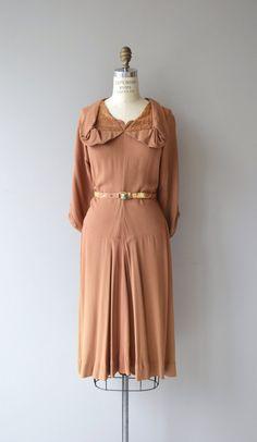 Gingembre Kleid Jahrgang 1940er Jahre Kleid Rayon von DearGolden