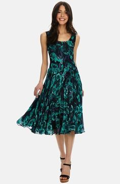 Donna Morgan Pleated Floral Chiffon Midi Dress. Buy for $158 at Nordstrom.