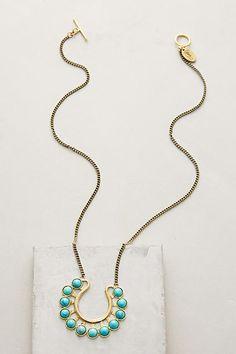 Horseshoe Pendant Necklace - anthropologie.com