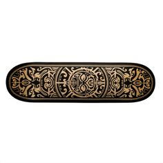 Polynesian Tribal Face Wood Grain Custom Skateboard