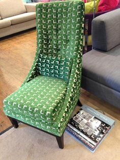 Vibrant Designers Guild fabric - Pugin emerald - for our latest showroom display