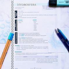 #notatki #geografia #hydrosfera #dodruku #printable #freebie #notatkidodruku #matura #liceum #notatka #szkoła #szkola #zadarmo Bujo, Hand Lettering, Notes, Study, School, Diy, Ideas, Geography, Report Cards