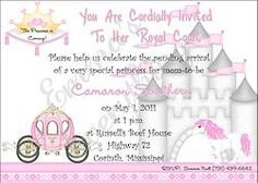 Fairy tale Princess Birthday Party Invitations