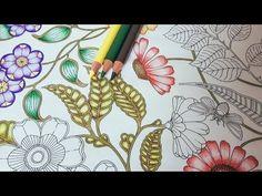 Coloring Tutorial Secret Garden pt. 2 - Leaf with Polychromos - YouTube
