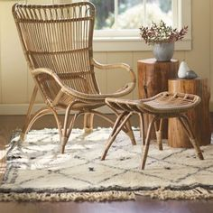 Seating. Rattan Lounger and Ottoman. Shop It: VivaTerra.com