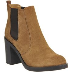 Office January Chelsea Boots ($96) ❤ liked on Polyvore featuring shoes, boots, ankle booties, ankle boots, tan suede, women, tan boots, block heel ankle boots, chelsea bootie and tan booties