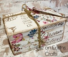 Book Crafts, Paper Crafts, Deco Podge, Earth Craft, Shabby Home, Iron Orchid Designs, Book Sculpture, Craft Kits, Craft Ideas