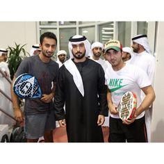 Mansoor Nabil, Majid bin Mohammed bin Rashid Al Maktoum y Mana Jarwan, Nas Sports Dubai, 01/07/2014. Vía: hhsheikhmajid
