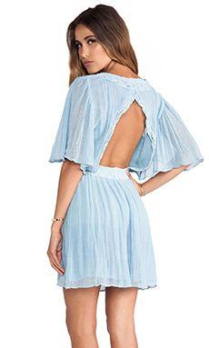 Jen's Pirate Booty Sahara Mini Dress in Light Sky Blue