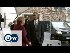President Obama meets the EU leaders of Europe's biggest nations in Berlin  Reblogged from DW (English) on YouTube - Link https://www.youtube.com/watch?v=X5uzWSzif1M The rights for the video belong to Deutsche Welle, Germany's international broadcaster