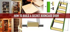 How To Build A Secret Bookcase Door (link