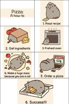 Pizza with Pusheen