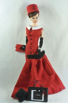 "Handmade Vintage Barbie/Silkstone Fashion by P. Linden 14 pc. ""Ruby Tuesday"" #FITSVINTAGEREPRODUCTIONSANDSILKSTONEBARBIE"