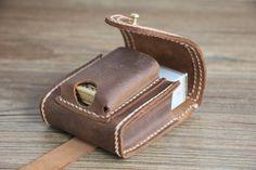 Lighter Case Leather Cigarette Bag Pack Bag by RockyLeatherDesign