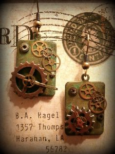 Steampunk Tiles by ThriftshopFunky on Etsy, $12.00