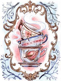 Tea time Alice in wonderland style.