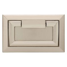 Richelieu Hardware Cabinet Knob BP3816-195-30 Brushed Nickel and White Combo NEW