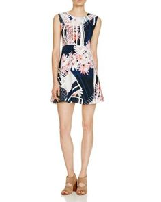 FRENCH CONNECTION Samba Avenue Floral Stripe Dress | bloomingdales.com