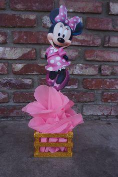 Minnie rosa y oro ratón cumpleaños fiesta centro por VeeVeeDesignes
