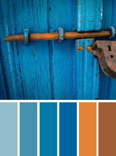 color schemes ,red cherry ,blue hues,blue and rust color inspiration,autumn color palette ideas #color #rust #bluehue