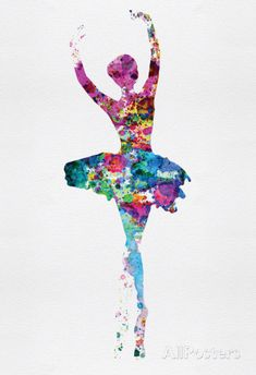 Ballerina Watercolor 1 poster