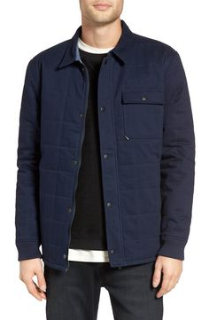 Main Image - Z.A.K. Brand Quilted Twill Shirt Jacket