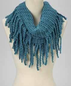 Look what I found on #zulily! Teal Fringe Infinity Scarf by JustJamie #zulilyfinds