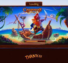 Caribbean Bingo Game on Behance Pirate Illustration, Book Illustration, Digital Illustration, Pirate Games, Pirate Art, Board Game Design, Game Ui Design, Treasure Island Game, Cool Games Online