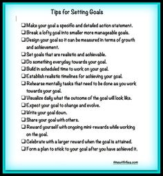 Free printable Tips For Setting Goals