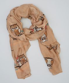 Look at this Mocha Owl Scarf on #zulily today!