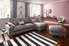 Perfekt Home Affaire Ecksofa »Arden« Mit Recamiere, Moderner Landhausstil, In 3  Bezugstoffen