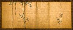 Anonimous  Bamboo  Six fold screen (byobu)