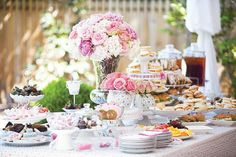 Garden party table decorations high tea 15 ideas for 2019 Afternoon Tea Wedding, Afternoon Tea Parties, Tea Party Table, Party Buffet, Tea Tables, Party Tables, Tea Party Bridal Shower, Shower Party, Bridal Showers