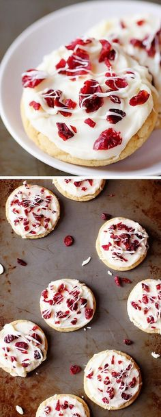 Cranberry Bliss Cookies | A delicious copycat of Starbucks' famous bars, but in a cookie!
