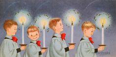 958 60s Marjorie Cooper Altar Boys Vintage Christmas Card Greeting | eBay
