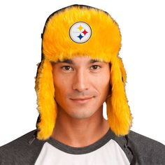 Trapper Hat + Pittsburgh Steelers Pin ( 8 value) d55bab187