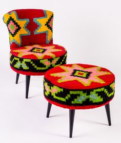 Mobilier fauteuil en kilim losanges rock the kasbah philippe xerri ethnique tribal - Rock the kasbah deco ...