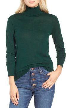 J.Crew Featherweight Cashmere Turtleneck available at #Nordstrom